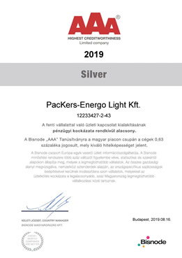 AAA SILVER PacKers-Energo Light Kft.
